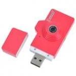 Стильная мини видеокамера (красная)