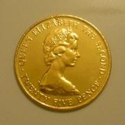 Позолоченная монета 25 Пенсов (крона) 1978 год