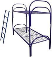 Кровати металлические одноярусные,  для бытовок,  кровати оптом.
